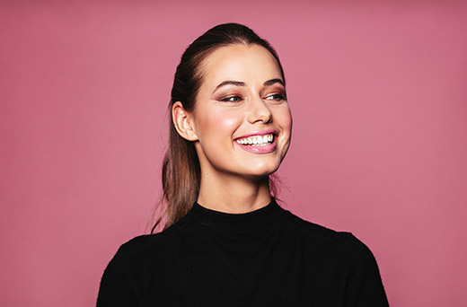 woman with bright teeth smiling